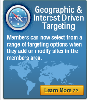 geographic and interest driven targeting